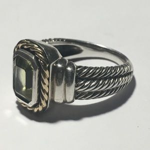 Bali Sterling silver ring with 14k accents size 8